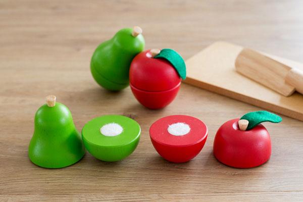 食材のりんごと洋梨拡大