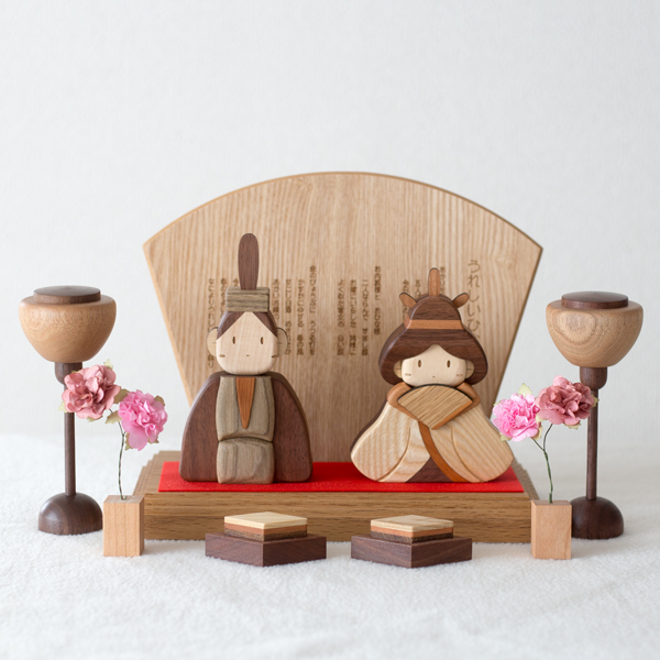 ササキ工芸木製雛人形DXセット