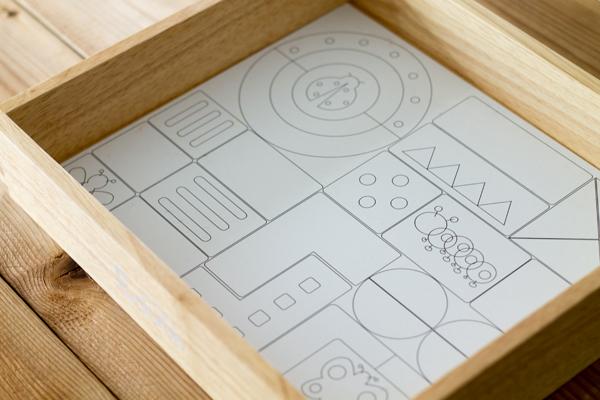 木箱の底面がパズル