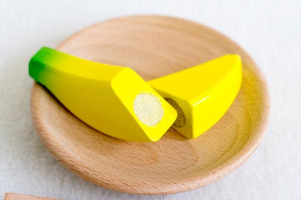 バナナを切った様子拡大