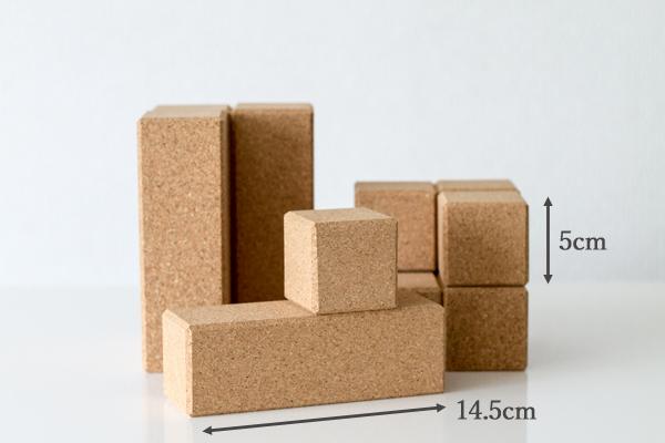 コルク積み木長方形パーツ拡大