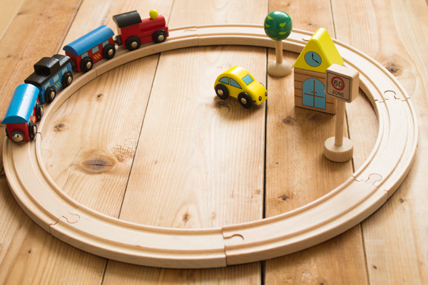 木製汽車セットメイン拡大