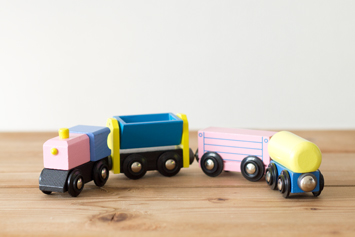 木製汽車レール
