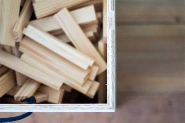 専用木箱上から見た様子