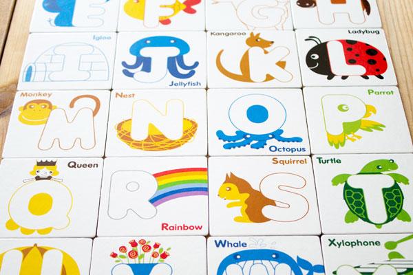 アルファベットカード種類