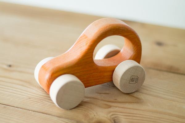 木製押し車オレンジメイン拡大