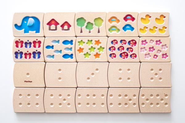 絵柄と点字木のタイル全種類