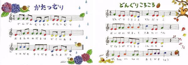 楽譜かたつむり|どんぐりころころ