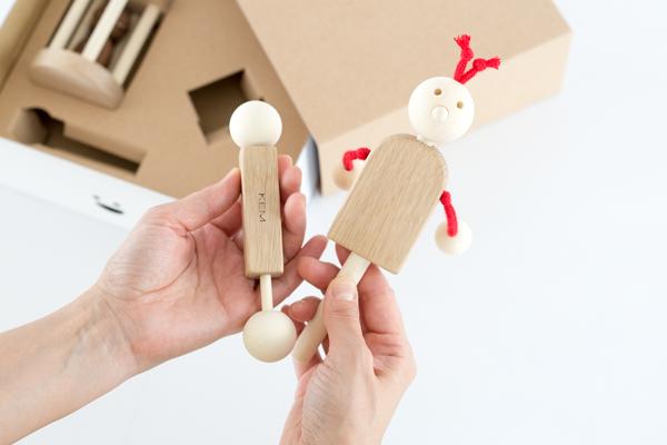 木のおもちゃセット内容サイズ感