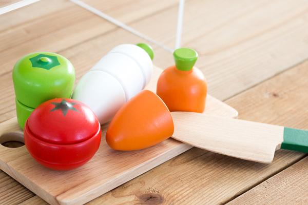 木製サクサクセットの野菜
