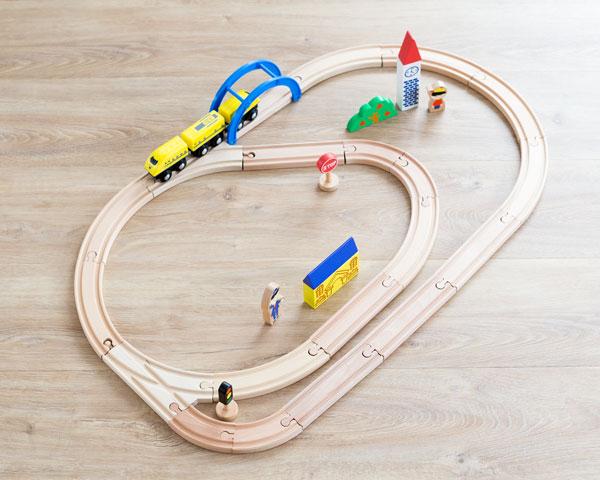 新幹線レールセット 組立てバリエーション