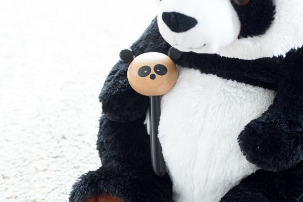 パンダのぬいぐるみ と共に