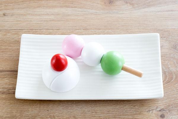 三色だんご いちご大福